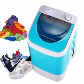 2 in 1 mini compact Cloth and shoe laundry washing machine- sky blue