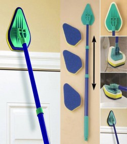 Clean Reach Triangle Sponge Mop