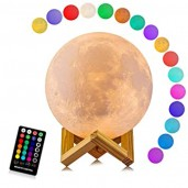 Remote control Moon Light with Wood Stand & Touching