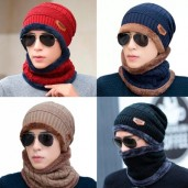 Ski cap and scarf cold warm winter hat for Women