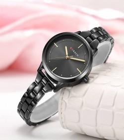 CURREN Small Dial Watch for Women- black