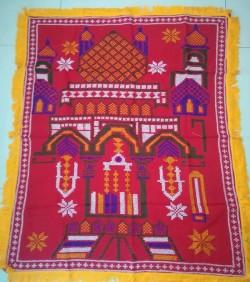 Hand made nakshi stitch prayermate  heavy work  (জায়নামাজ)