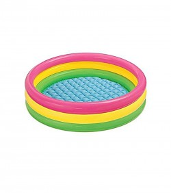 Intex Inflatable Baby Swimming Pool - Multicolor
