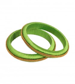 Green Thread Bangles for Women - 2Pcs