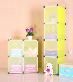 Portable Cloth Storage Rack of 4 boxes
