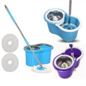 Microfibre Spin Mop steal with 4 wheel