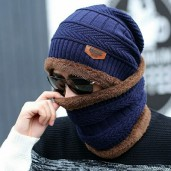 Exclusive China Winter Cap Set- navy blue