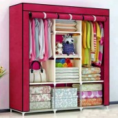 HCX Wardrobe Storage Organizer for Clothes - Big Size - Red wine