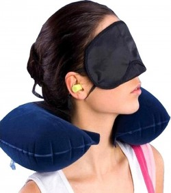 3 In 1 Blue Travel Pillow Set