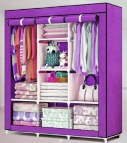 HCX Wardrobe Storage Organizer for Clothes - Big Size 3 part - purple