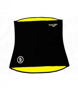 Sweat Slim Belt - Black and Yellow