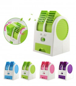 Mini Air Cooler - White and Green