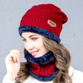 Exclusive China Winter Cap Set-Red