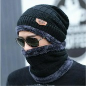 Exclusive China Winter Cap Set-Black