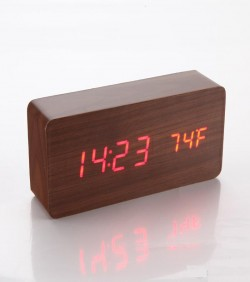 Digital Table Clock - Wooden