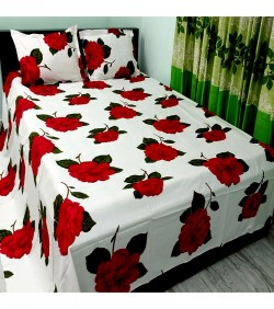 Double Size Cotton Bed Sheet 3 pcs Set