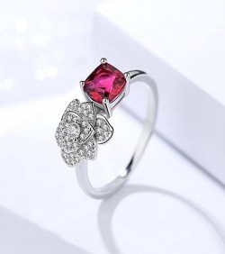 Rose Shaped Finger Ring