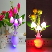 LED Sensor Mushroom Night Light  (2 pcs)