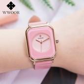 2021 WWOOR Women Luxury Casual Watch  Pink