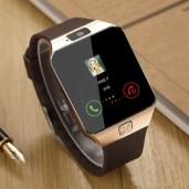 DZ09 Sim Supported smart watch-golden