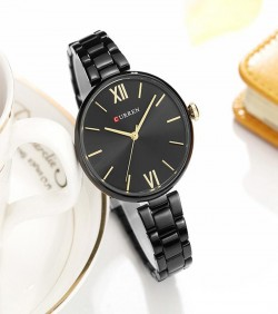 CURREN Simple Dial Watch for Women- black