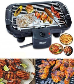 3 In 1 Electric BBQ Grill Machine - Black