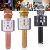 Wireless Mini Portable WS-858 Karaoke Microphone